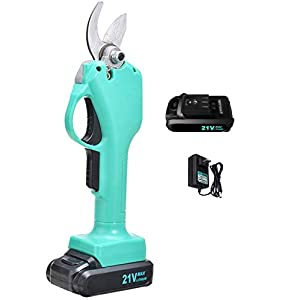 Amycute Professional Cordless Electric Pruning Shears, 1.2 Inch 21V Rechargeable Battery Powered Garden Tools Tree…