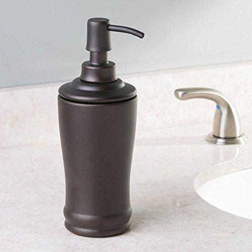 InterDesign Olivia Tall Liquid Soap & Lotion Dispenser Pump for Kitchen or Bathroom Countertops, Bronze