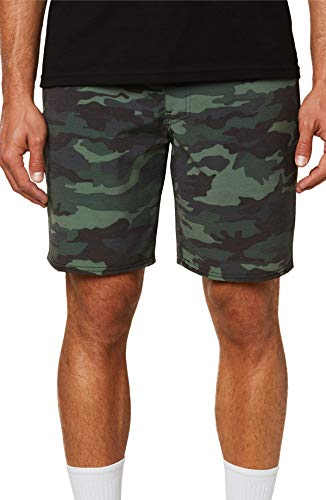 O'NEILL Men's Water Resistant Hybrid Walk Short, 18 Inch Outseam (Camo/Tropic Garden, 40) (Camouflage Garden)