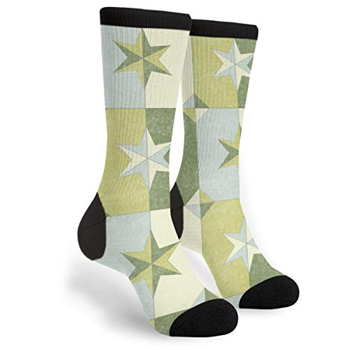 Price comparison product image Shade Shadow Weathered Stars Dill Pickle Men & Women Casual Cool Cute Crazy Funny Athletic Sport Colorful Fancy Novelty Graphic Crew Tube Socks
