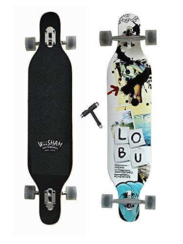 WiiSHAM Professional Speed Drop Down Complete Longboard Skateboard(42 Inches) (4)