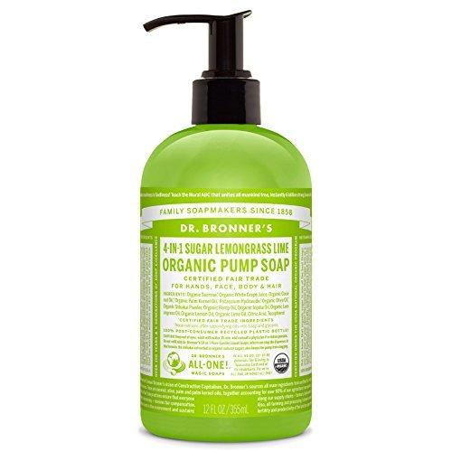 Dr. Bronner's Fair Trade & Organic Shikakai Hand & Body Pump Soap - (Lemongrass Lime, 12 oz) by Dr. Bronner's -