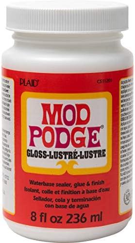 Mod Podge CS11201 Waterbase Sealer Glue & Decoupage Finish 8 oz Gloss 8 Fl Oz