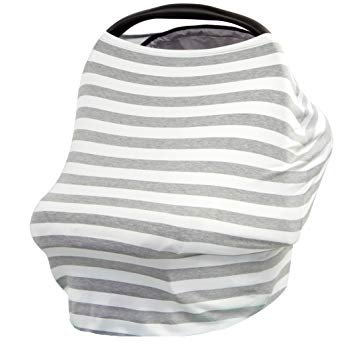 Noble Essentials 5-in-1 Carseat Canopy & Nursing Cover, Stretchy & Ultra Soft Breastfeeding, Car seat & Stroller, Shopping Cart Covers, Perfect Gift for Mom -