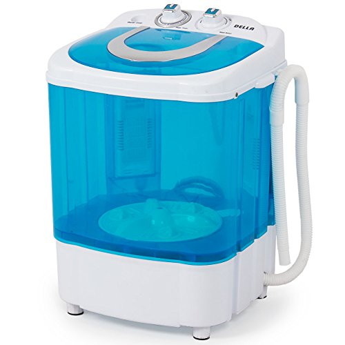 DELLA Electric Small Mini Portable Compact Washer Washing Machine RV Top Load (8.8 LB Capacity), Blue