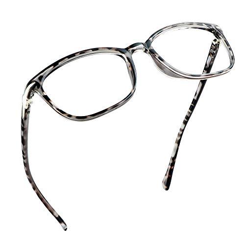 LifeArt Blue Light Blocking Glasses, Anti Eyestrain, Computer Reading Glasses, Gaming Glasses, TV Glasses for Women Men, Anti Glare (Leopard, No Magnification)