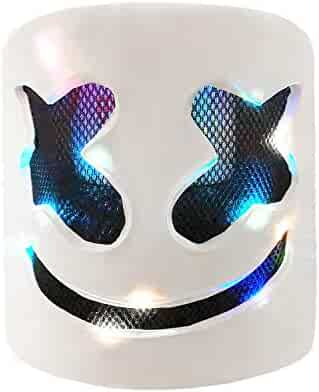 Marshmello Helmet,DJ Marshmello mask fo Kids& Adult,Latex/Marshmallow Mask for Fans Meeting,Music, Party, Halloween and More
