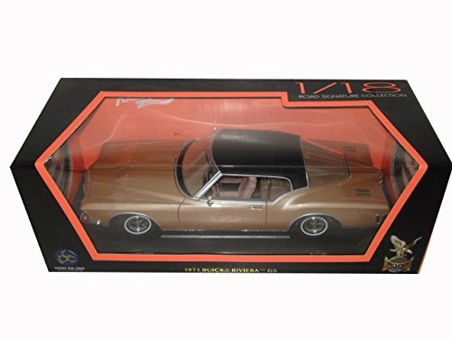 - Road Signature 1971 Buick Riviera GS with Vinyl Top Gold 1/18 92558