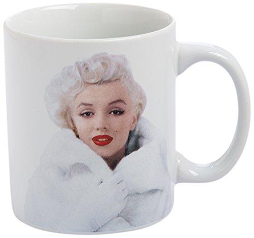 Vandor 70061 Marilyn Monroe Just a Girl Ceramic Coffee Mug Cup, 12 Ounce ()