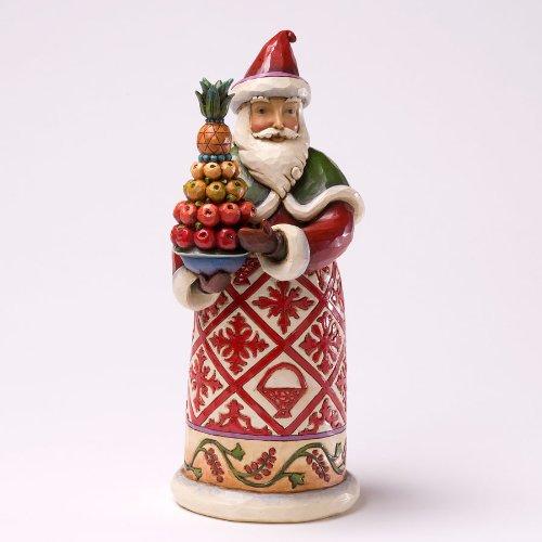 Jim Shore Williamsburg Santa - Feast And Be Festive (Shore Colonial Jim)