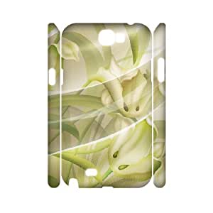 3D Samsung Galaxy Note 2 Case, Funny Yarn and Flowers Case for Samsung Galaxy Note 2 {White}