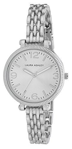 Laura Ashley Women's LA31006SS Analog Display Japanese Quartz Silver-Tone Watch from Laura Ashley