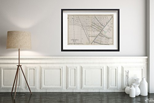 1915 Map of Philadelphia Buffalo, V. 1, Double Page Plate No.1 Map Bounded by Kenmore Ave, Minnesota Ave, Hertel Ave, Dryden Ave Century Atlas Co.|Vintage Fine Art Reproduction|Ready to Frame