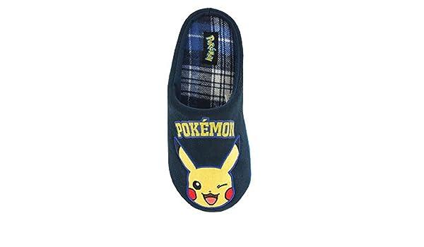 Pokemon Pikachu - Zapatillas de Estar por casa de Tela para Hombre ...
