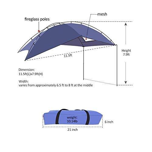EGECL Car Tent - Folding Sunshade Carports - Anti-UV Roof Top Tent - Car Sun Shelter Awning - Hiking, Climbing, Fishing by EGECL (Image #2)