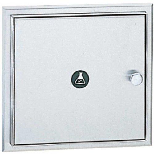 Specimen Pass Thru Cabinet - Bobrick 505 304 Stainless Steel Recessed Specimen Pass-Thru Cabinet, Satin Finish, 12-1/16