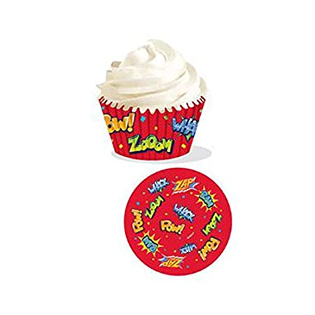 Superhero Cupcake Cases By Wilton Pack Of 75