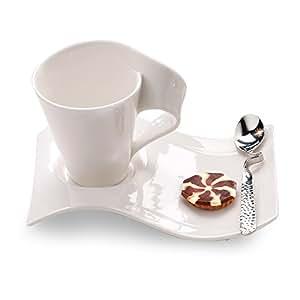 villeroy boch new wave caffe mugs set of 2 villeroy and boch kitchen dining. Black Bedroom Furniture Sets. Home Design Ideas