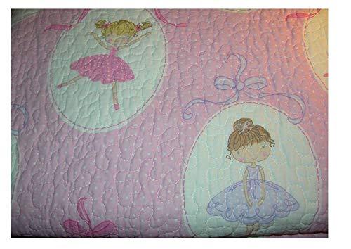 Maggie Miller Children's Collection Pink Ballerina Dancer Twin Quilt (Maggie Miller Bedding)
