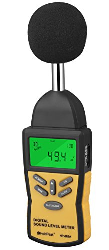 Holdpeak – Decibel Meter / Sound Level Reader – W/ Battery!