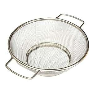 Large 18CM Stainless Steel Mesh Net Strainer Handle Flour Sifter Sieve Colander