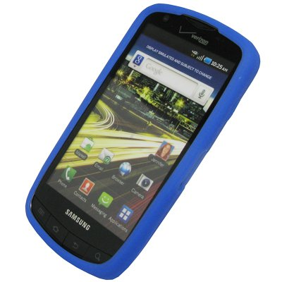 EMPIRE Blau Silicone Skin Case Tasche Hülle Cover for Verizon Samsung Droid Charge