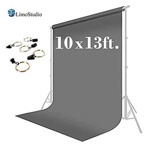 LimoStudio 10 x 13 ft. Photo Studio Muslin Backdrop Background Gray Photography...
