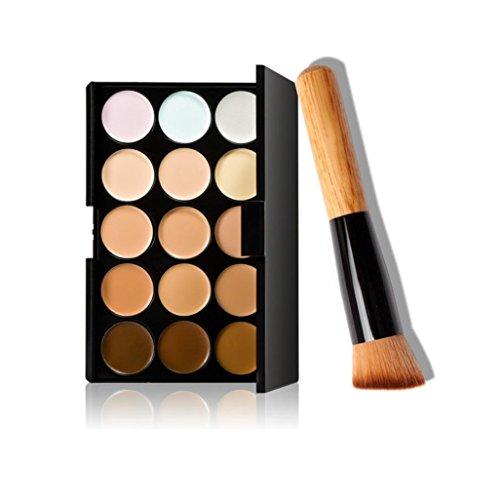 Price comparison product image Makeup tools, LUNIWEI 15 Colors Makeup Concealer Contour Palette + Makeup ...