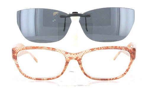 VALENTINO V2606-53X16 POLARIZED CLIP-ON SUNGLASSES (Frame NOT - Valentino Versace Sunglasses