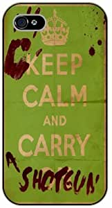 iPhone 5 / 5s Keep Calm and carry shotguns - black plastic case / Keep Calm, Motivation and Inspiration, dead, walking