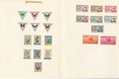 Indonesia Maluku Selatan Collection on 5 Pages Animals, Birds, Fish, Butterfly