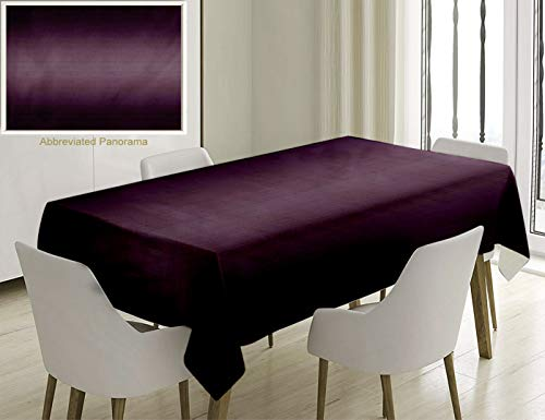 Nalagoo Unique Custom Cotton and Linen Blend Tablecloth Ombre Hollywood Theater Inspired Purple Colored Modern Design Room Decorations PurpleTablecovers for Rectangle Tables, 70 x 52 inches ()