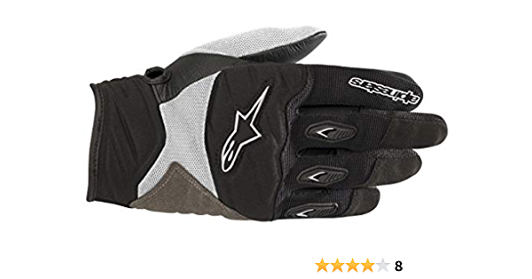 Black//White, Alpinestars Stella Shore Women/'s Leather//Textile Motorcycle Glove