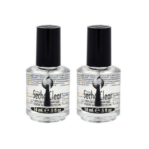 Seche Lot 2 Clear Base Vite Coat Salon Quality Nail Treatment Polish Crystal Dry by Seche