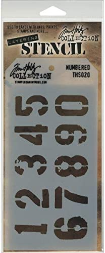 Lace Tim Holtz Stampers Annon Layered Stencil 4.125 inch x 8.5 inch