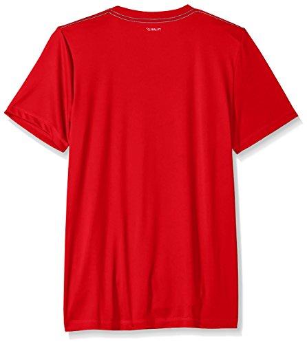 Large Product Image of adidas Big Boys' Short Sleeve Logo Tee Shirt, Red, Large