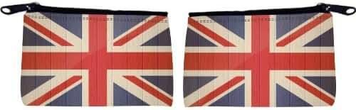 Rikki Knight Great Britain Flag On Distressed Wood Design Scuba Foam Coin Purse