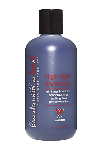 Purple Shampoo for Blonde or Highlighted Hair – Eliminates Brassiness and Yellow Tones - Brightens Gray or White Hair – 100% Cruelty Free - 8.5 Fl Oz - Salon Quality Hair Care - Beauty With A Twis