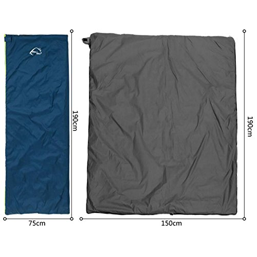Camping randonnée pédestre Printemps Automne Sacs de couchage Simple Liner -Navy