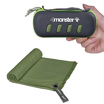 4Monster Mikrofaser Handtücher in 5 Farben, Saugfähiges Sporthandtuch Ultra Leicht, Schnelltrocknendes Reisehandtuch für…