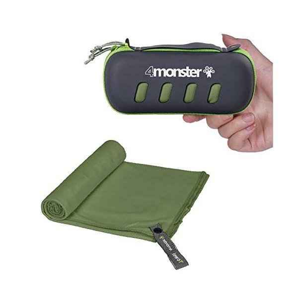 416sg5q%2BvdL 4Monster Mikrofaser Handtücher in 5 Farben, Saugfähiges Sporthandtuch Ultra Leicht, Schnelltrocknendes Reisehandtuch für…