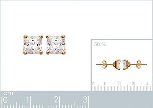 ISADY - Malina Gold 6 - Boucles d'oreille - Plaqué or jaune 18K - Clous d'oreille - Oxyde de zirconium