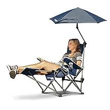 Sport-Brella Recliner Chair:  3-Position Recliner W/ Full Coverage Umbrella