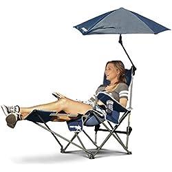 Sport-Brella Recliner Chair: 3-Position Recliner W/Full Coverage Umbrella