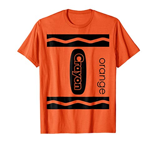 Orange Crayon Halloween Couple Friend Group Costume T-shirt