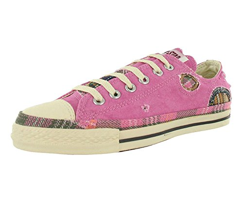 Converse Chuck Taylor Patchwork Ox Pink / Parchment Ankle-High Canvas Fashion Sneaker - 8M 6M