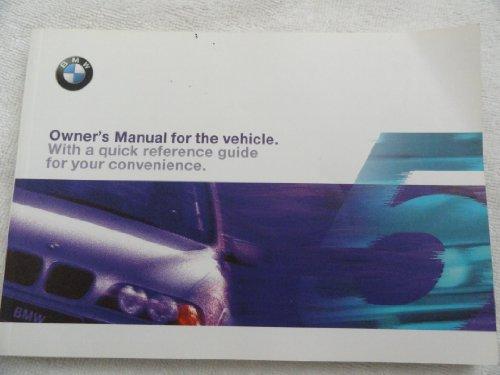 1999 BMW 528i - 540i Owners Manual 528 540 i