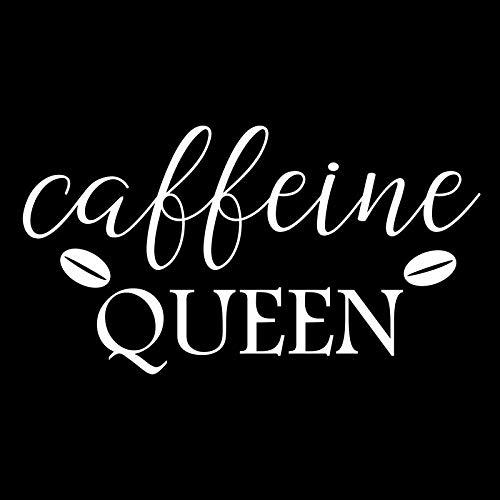 - Creative Concepts Ideas Caffeine Queen Coffee Bean CCI Decal Vinyl Sticker Cars Trucks Vans Walls Laptop White 5.5 x 3.1 in CCI2347