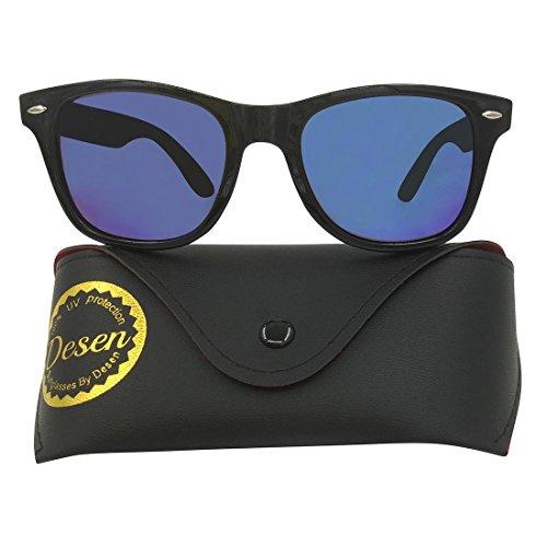 Polarized sunglasses Desen wayfarer design for men and women (Black, Crystal - Lenses Blocking Blue Review