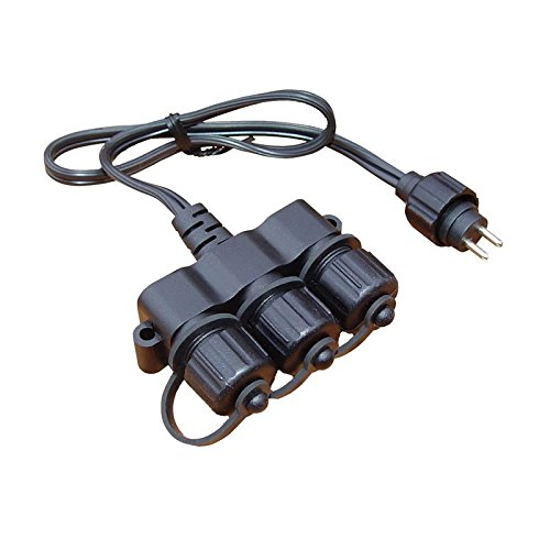 Outdoor Garden Lighting Techmar 3 Way Cable Connector